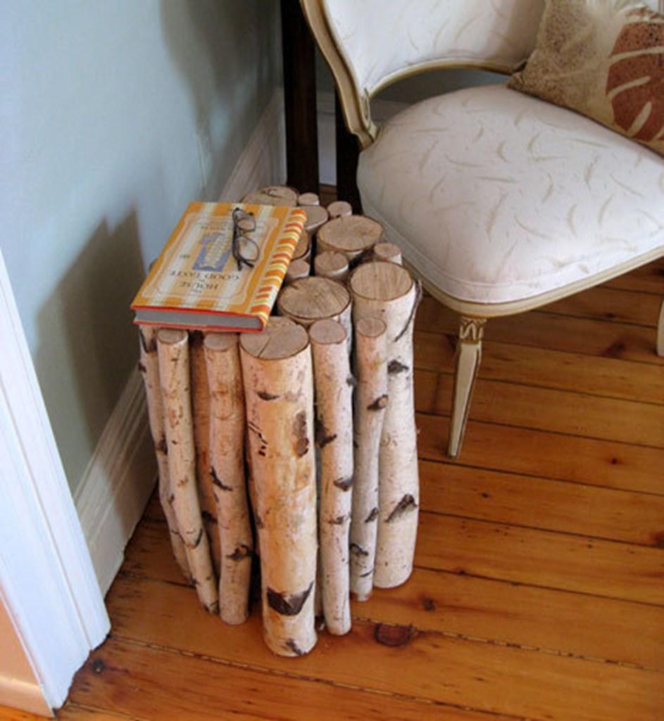 TrÆstubbe som bord   blog om bolig
