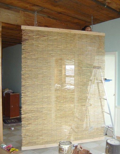 DIY gardinvæg.