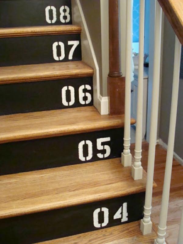 Nummerede trappetrin.