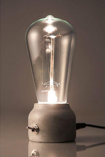 Bordlampe i beton