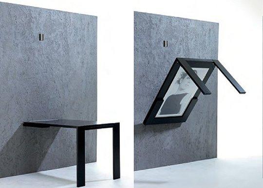 vægmonteret klapbord