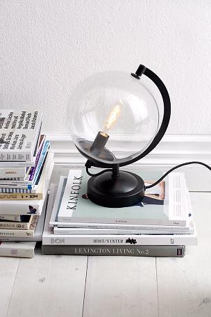 Belysning bordlampe globus