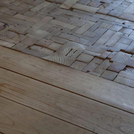 Gulv af træstumper