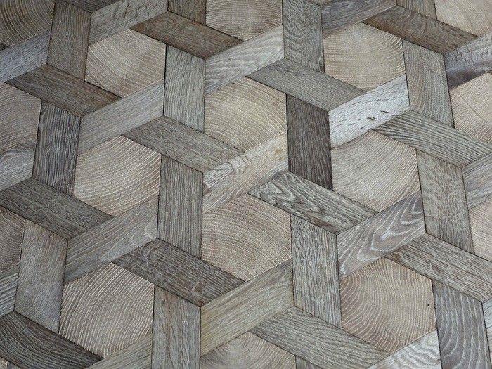 Trægulv med sekskanter
