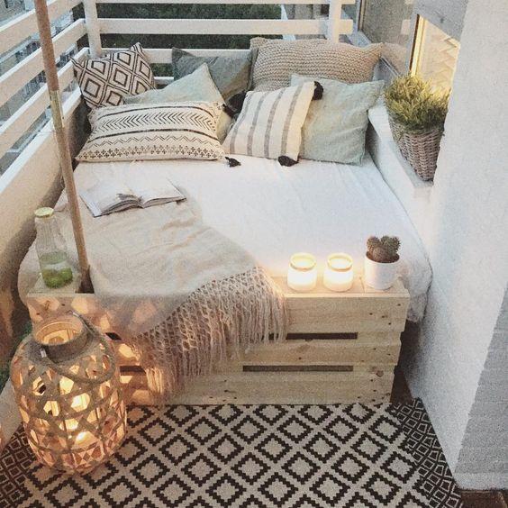 daybed på altanen