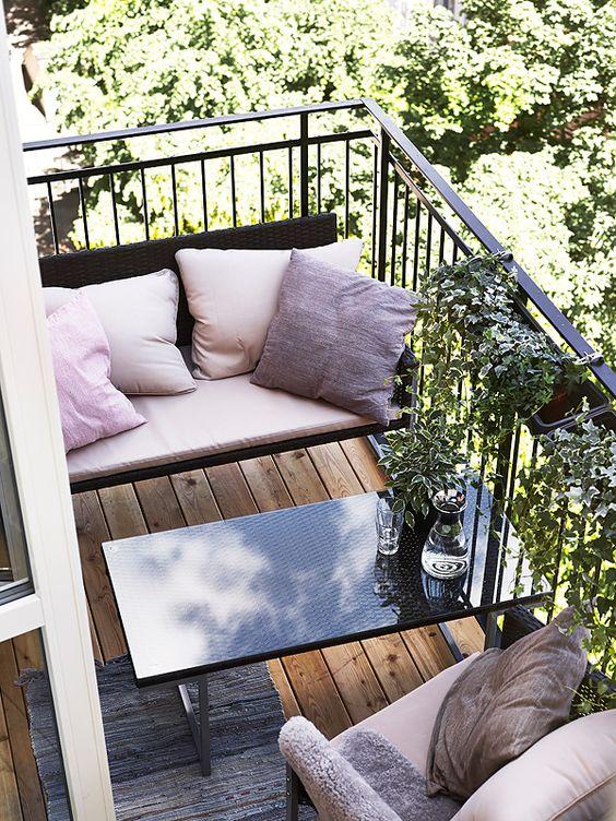 Loungestemning på altanen