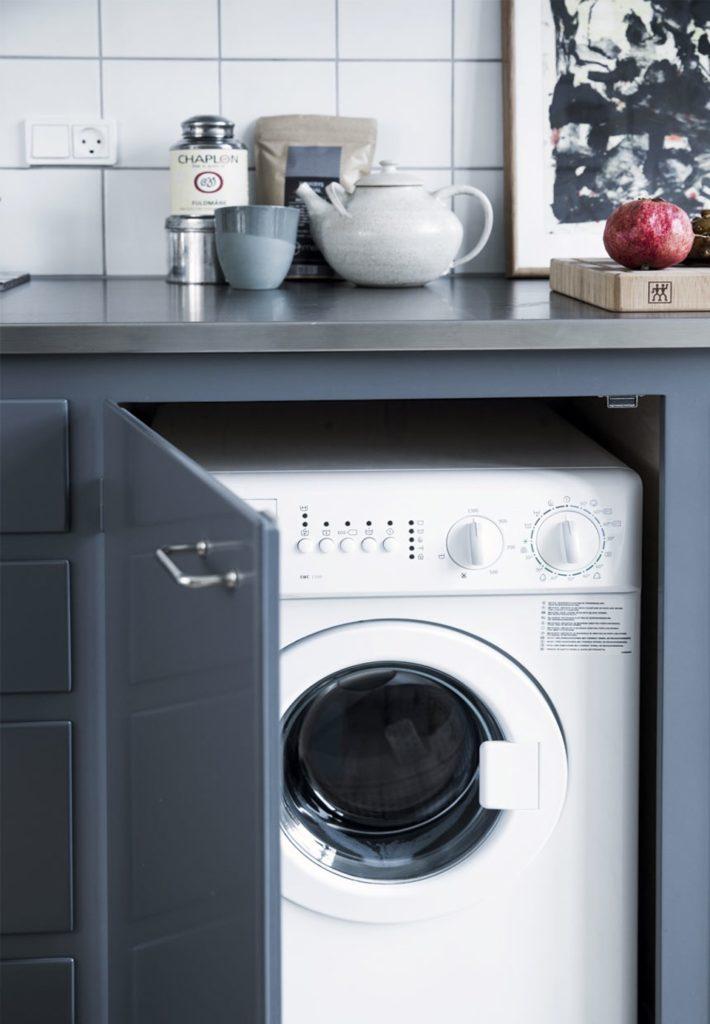 skjult vaskemaskine