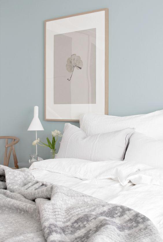 blåt soveværelse
