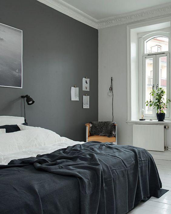Indretning af sovev relse brug maling blog om bolig for Minimalist grey bedroom
